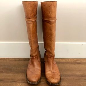 Tall Brown Frye Riding Boots